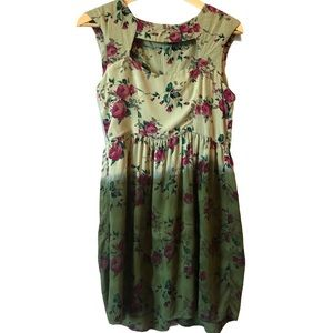 Urban Outfitters dip dyed floral dress